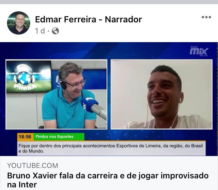 Entrevista com Bruno Xavier no Pimba nos Esportes