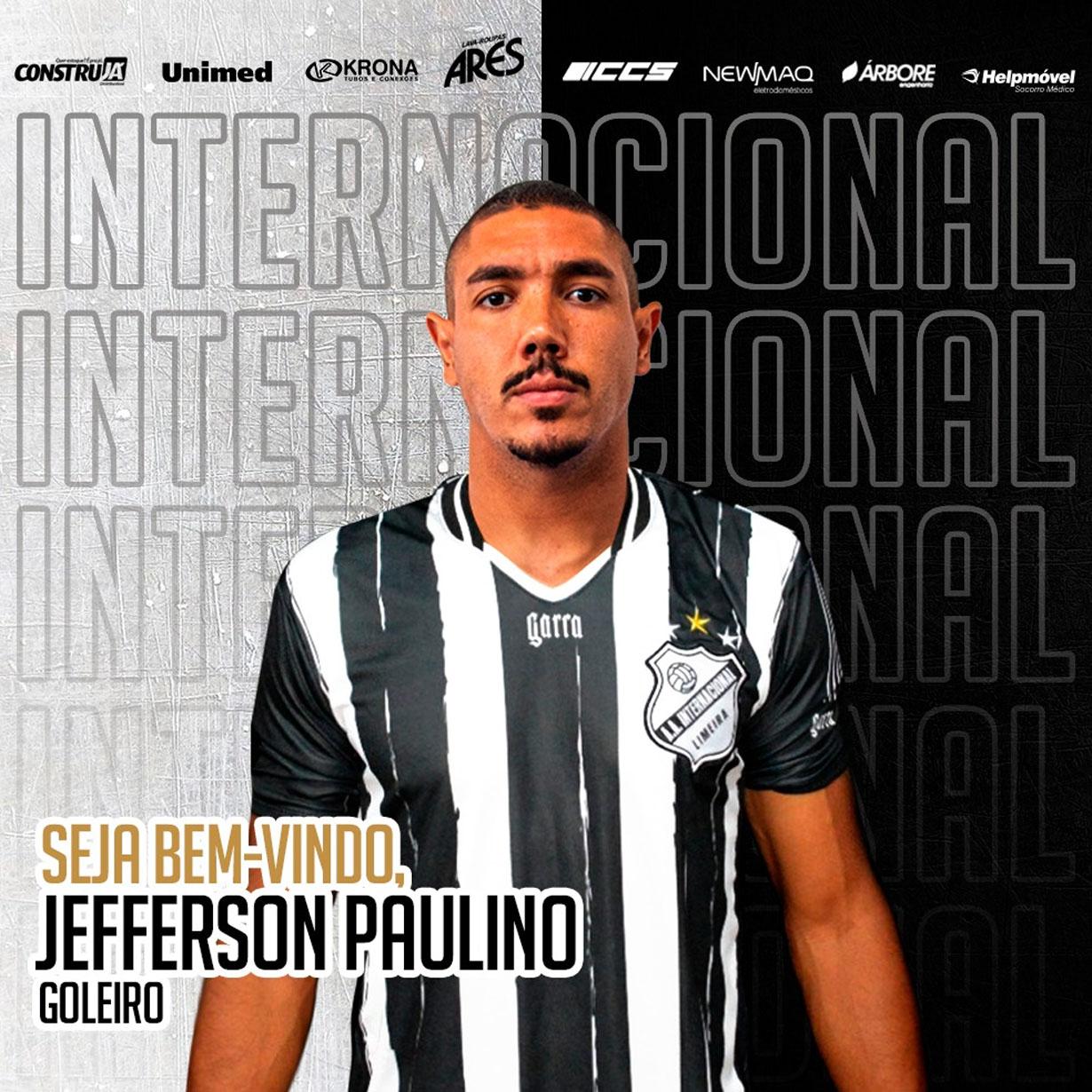 Inter acerta a contratação do goleiro Jefferson Paulino